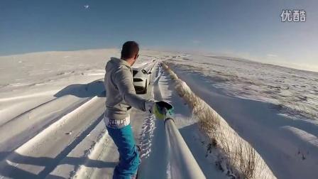 用兰博基尼做牵引的极致滑雪体验!