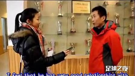 140222 《足球之夜》专访鹿晗高中足球老师
