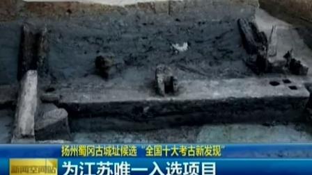 """扬州蜀冈古城址候选""""全国十大考古新发现"""" 150228 新闻空间站"""