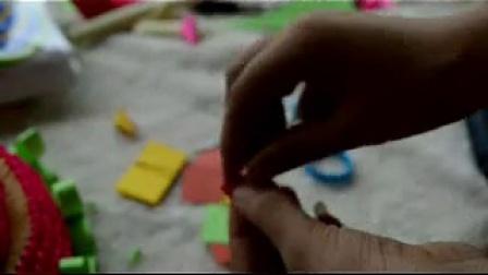 第四十四节三层蛋糕的的组装过程下纸缘手工三角插视频教程