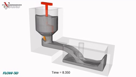 FlowSight后处理案例:Flow-3d混凝土搅拌机和填充的CFD模拟