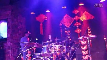 My Wife Valentina & i on Drums on her Birthday Celebration @Terrace