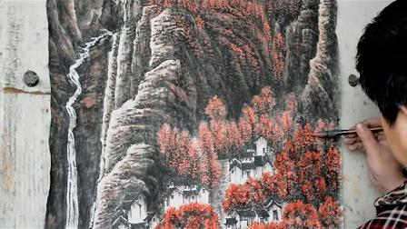李凤春国画山水 ---- 万山红遍11