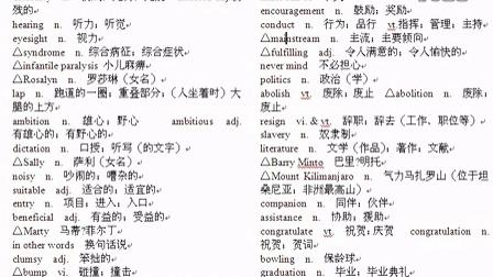人教版高中英语选修七第一单元单词 单词录音