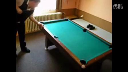 花式台球达人赏心悦目超牛的台球技巧 斯诺克视频剪辑