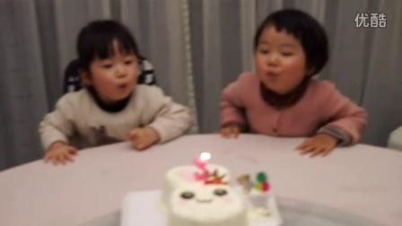 三岁生日 小兔子蛋糕