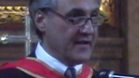 胡坤-英国皇家音乐学院首位大陆院士授衔仪式 2003七月三日伦敦Marylebone教堂