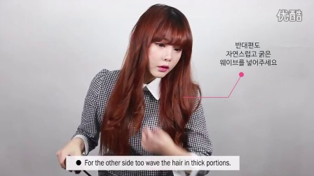 [English Sub]oneside long hair styling