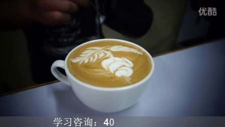 玫瑰咖啡拉花图案【广东珠海明珠调酒咖啡培训学校】