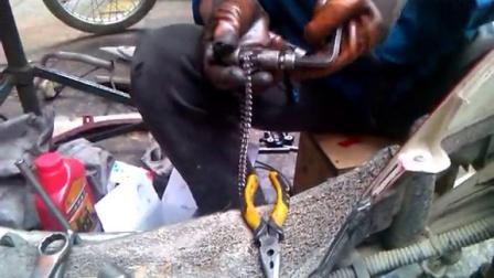摩托车维修视频教程之换时规链 GY6125 豪迈125