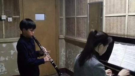 单簧管克拉玛协奏曲第一乐章排练