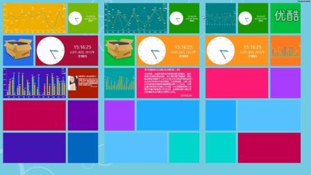 wpf大屏及电视墙动态显示程序
