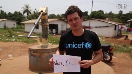 "UNICEF亲善大使Orlando Bloom 在""世界水资源日""录的视频,请珍视水资源"