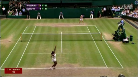2010温布尔登网球锦标赛女单SF 小威廉姆斯VS科维托娃 (自制HL)