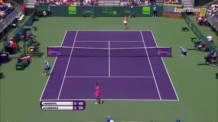 Azarenka vs Jankovic Miami 2015 Full match part 1
