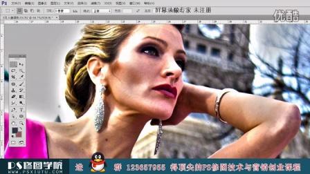 PS修图调色合成HDR欧美名模大片
