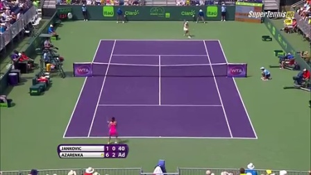 Azarenka vs Jankovic Miami 2015 Full match part 2