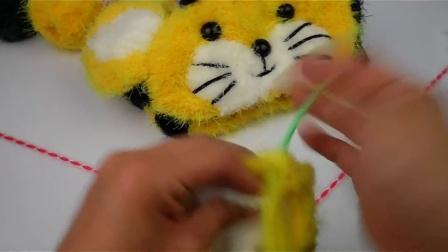 【泡泡编织】 第52集 老虎马甲 泡泡编织 视频教程 织毛衣