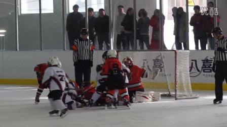 20142015北京市青少年冰球联赛U8组第二轮威龙烈焰VS朗致梦想第3节