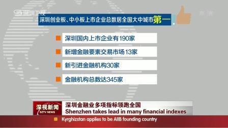 全球金融中心指数发布  深圳排中国内地第二 深视新闻 150331