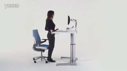 Airtouch Sit-to-Stand Height Adjustable Table - User Adjustment Video