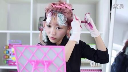 跟日本mm学习diy染彩色头发(粉色和薄荷色)