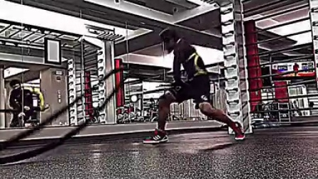 Solo Leg Drag Drill for Jiu Jitsu using Battle Ropes 480p
