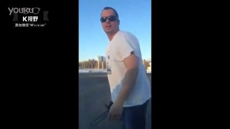 [K分享] 世风日下:实拍男子车祸后用电锯恐吓一家三口