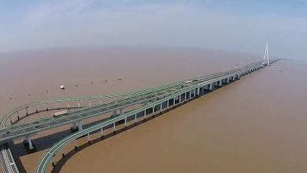 航拍杭州湾跨海大桥