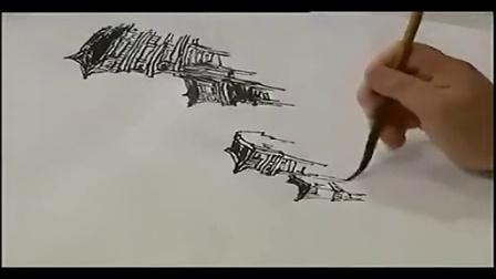 中国水墨山水画 视频水墨山水画入门教学