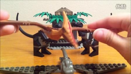 1370 积木砖家乐高LEGO 侏罗纪公园3猛禽 Studios Jurassic Park III Raptor Rumble Review