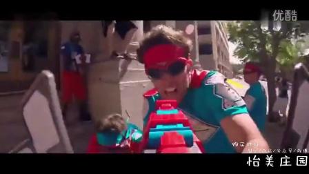 Epic Zipline Blaster Battle with BOOMco