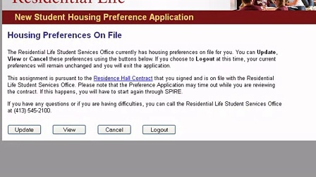 Cancelling Your Housing Preferences - UMass Amherst
