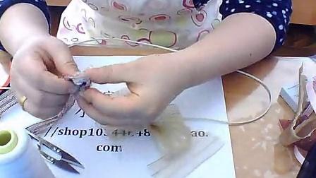 时尚小百合 纱带手工发饰制作方法 制作教程 2015年韩国新款