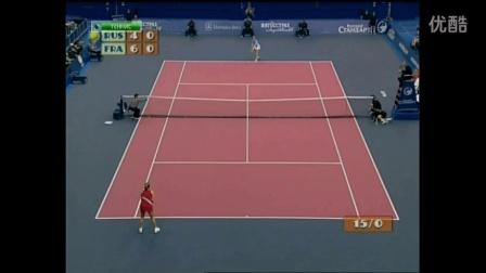 2003 Fed Cup 俄罗斯VS法国 兹沃娜列娃VS皮尔斯 (自制HL)
