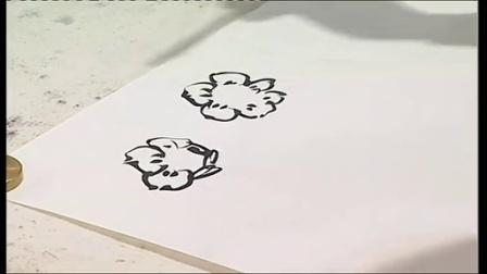 国画寿桃的画法第一集儿童国画入门教学图片