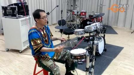 台湾 Goedrum 鼓动电鼓 屏東講座 (單雙手4連音示範) by 王自強博士