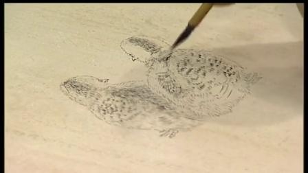 国画老鼠画法图片国画大师画鱼视频