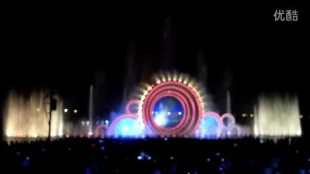 长沙望城区东湖雷锋公园水幕电影喷泉