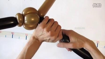 气球冲锋枪魔术造型视频教学教程