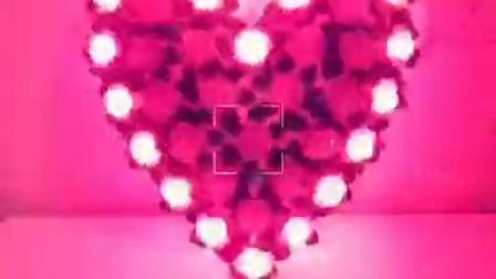 粉色玫瑰爱心