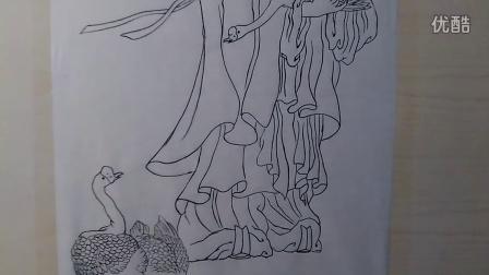 国画工笔线描-昆山三人行教育QQ:3053076205