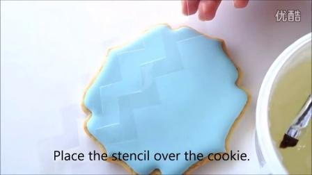 人字形图案糖霜饼干