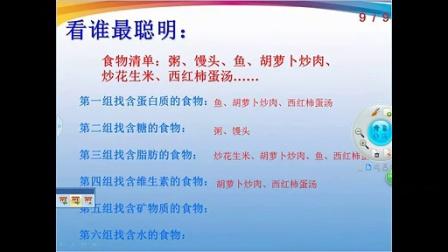 东大街小学科學四年級下册《食物中的营养》课堂实录魏义韵