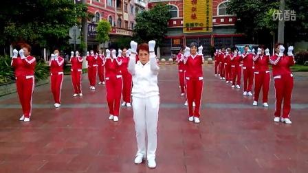 广西龙州县鹤之舞队快乐舞步健身操2015050106