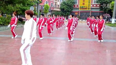 广西龙州县鹤之舞队快乐舞步健身操2015050107