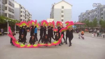 袁桥广场舞扇子舞《中国美》2015年五一劳动节团体演出