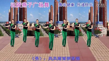 沅陵燕子广场舞《脚踏地球咚咚地响》(原创舞附背面演示)