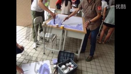 2015年广州番禺职业技术学院宿舍文化活动--现场书法绘画比赛