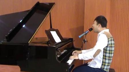郑州刘杰钢琴自弹自唱经典动画片《大头儿子小头爸爸》歌曲《快乐父子俩》